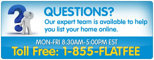 Expert team is available to help you list your home online.
